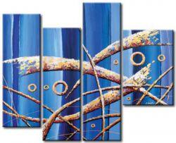 Obrazový set - Modrá abstrakce