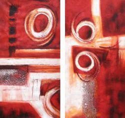 Obrazy - Červená abstrakce