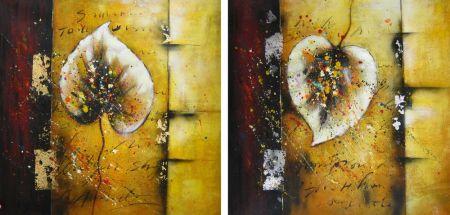 Obrazy - Dva podzimní lístky