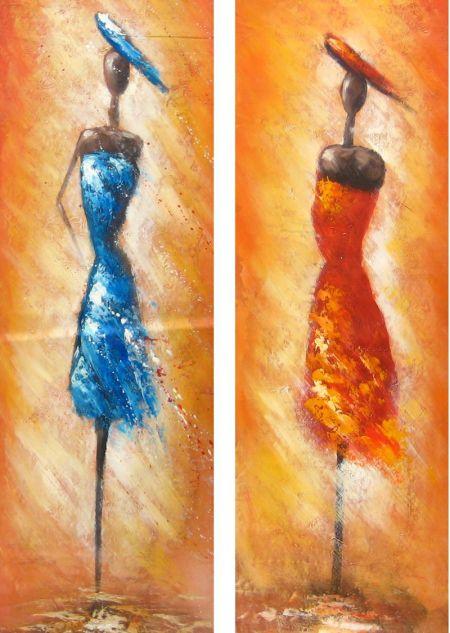 Obrazy - Dvě modrá a červená