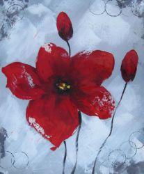 Obrazy - Rudá květina