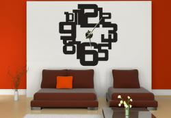 Samolepící hodiny na zeď - Číslicový design