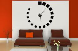 Samolepící hodiny na zeď - Čtvercový design