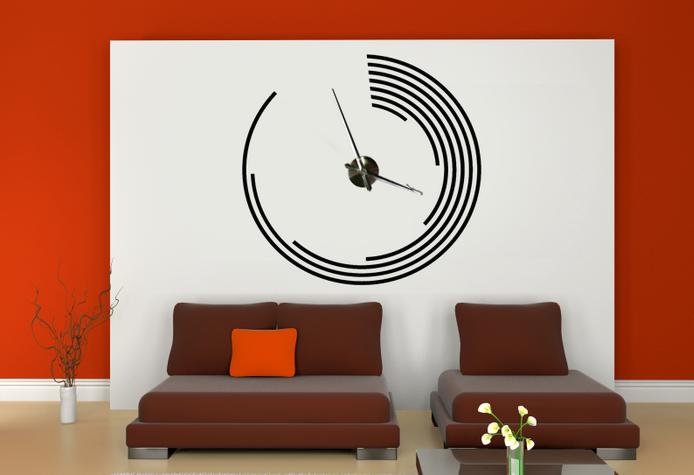 Samolepící hodiny na zeď - Moderna