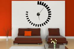 Samolepící hodiny na zeď - Ozubené Kolo