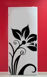 Samolepka na dveře - květina MOSCADA