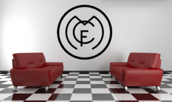 Samolepka na zeď - FC  REAL MADRID