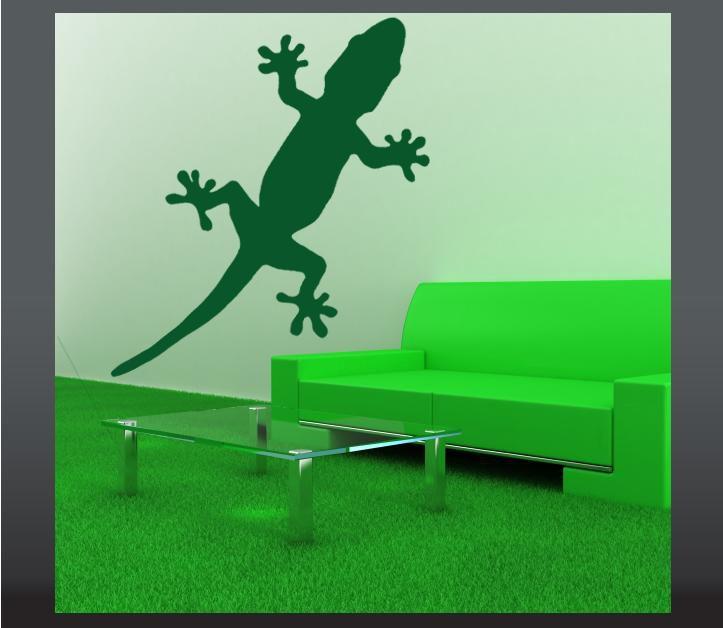 Samolepka na zeď gekon