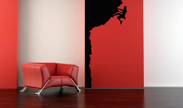 Samolepka na zeď - HOROLEZECKÁ STĚNA