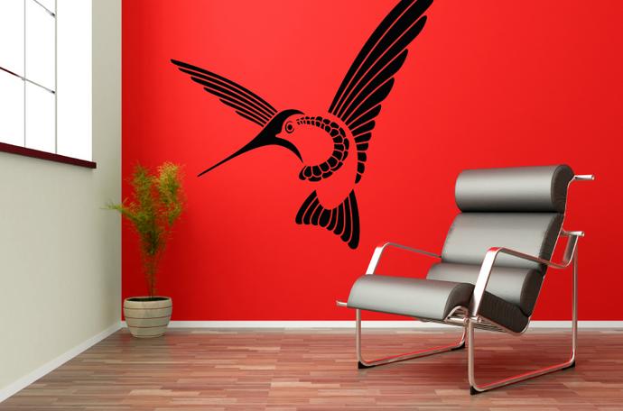 samolepka na zeď kolibřík