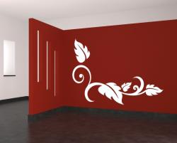 Samolepka na zeď -  květinová dekorace PINO