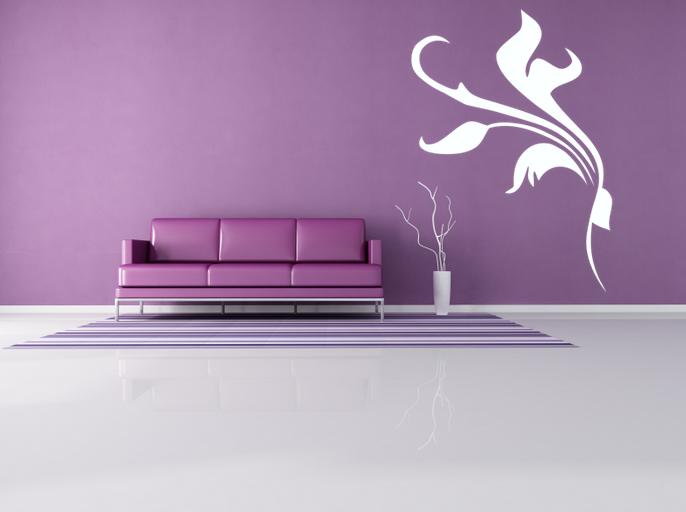 Samolepka na zeď - květinový dekor FIORE