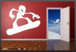 Samolepka na zeď - SNOWBOARDING