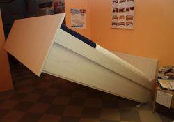sklopná postel KLASIK - lamino :  121 - 160x200cm  /  vyklápění z čela