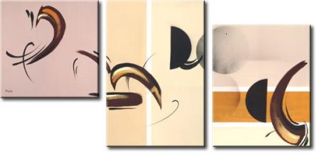 Vícedílné obrazy - Abstraktní pírka