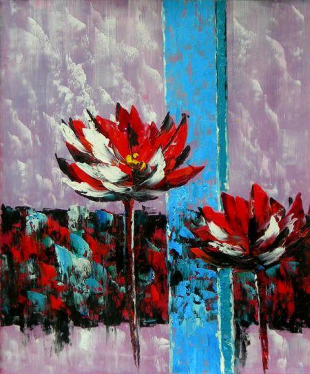 Obraz - Abstraktní květiny I.