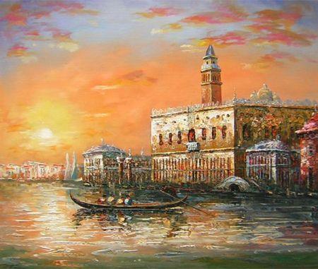 Obraz - Benátky za úsvitu