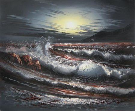 Obraz - Bouře na moři I.