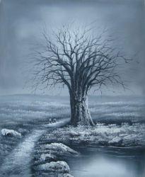Obraz - Černobílý strom