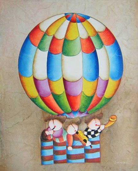 Obraz - Děti v balónu I.