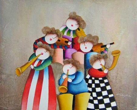 Obraz - Dětská hudební škola