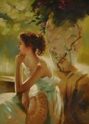 Obraz - Dívka s vějířem