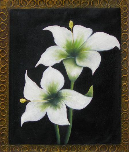Obraz - Dva bílé květy II.