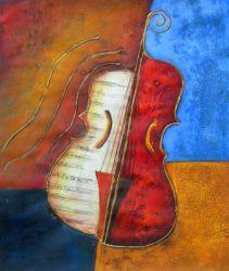Obraz - Dvoubarevné housle