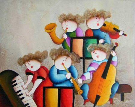 Obraz - Hudební škola