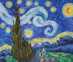 Obraz - Hvězdná noc