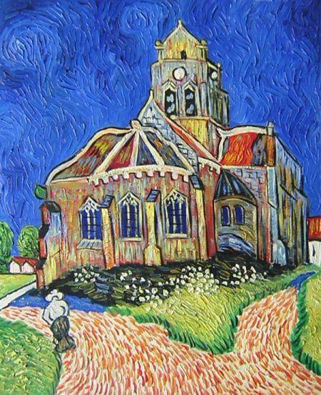 Obraz - Kostel v Auvers