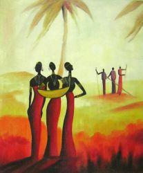 Obraz - Lidé v západu slunce