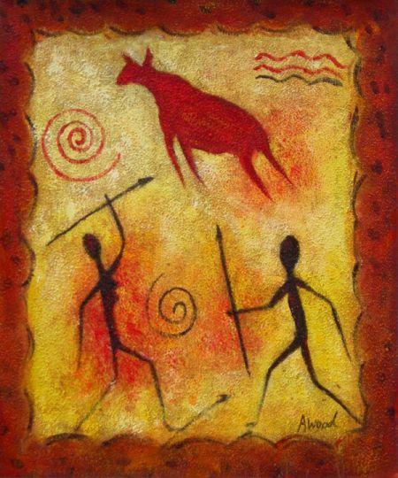 Obraz - Lovci