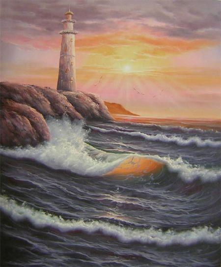 Obraz - Maják u moře I.