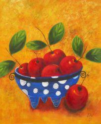Obraz - Mísa s jablíčky