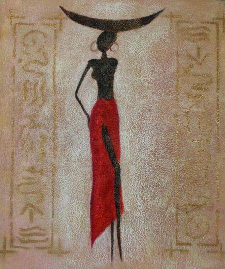 Obraz - Modelka v červené sukni