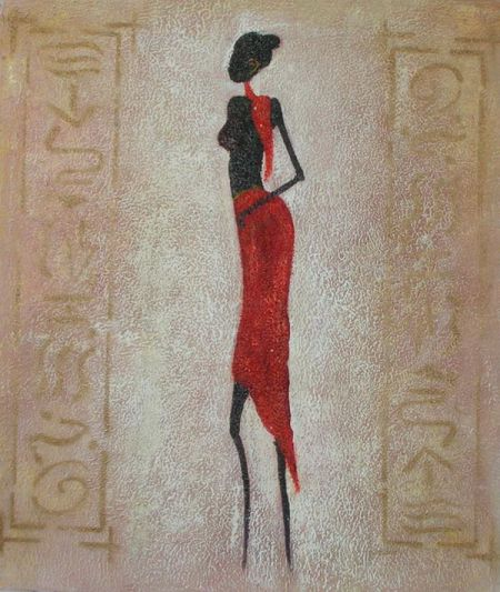 Obraz - Modelka v červené sukni 3