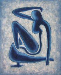 Obraz - Modrá žena
