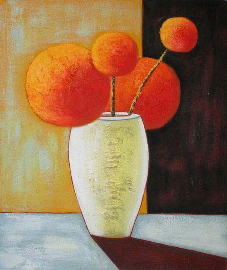 Obraz - Oranžové kulaté květiny