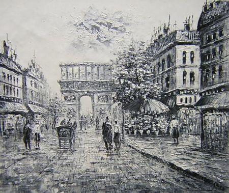 Obraz - Pařížská ulice I.