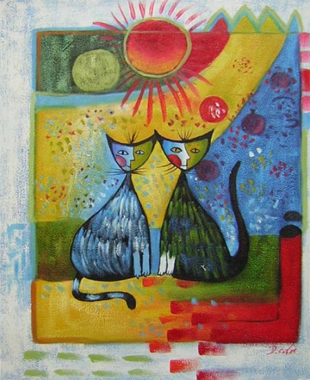 Obraz - Pestrobarevné kočky