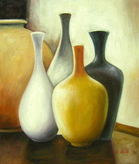 Obraz - Pět váz