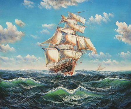 Obraz - Plachetnice na moři III.