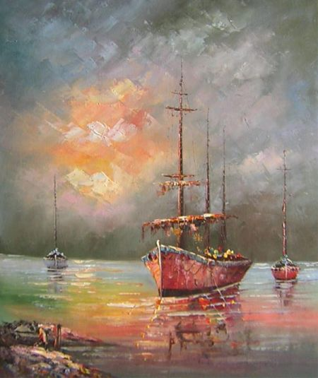 Obraz - Plachetnice na moři V.