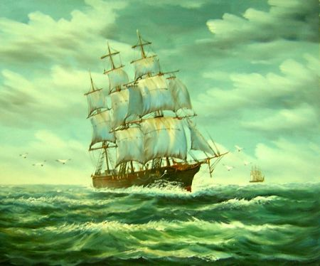 Obraz - Plachetnice na moři VII.