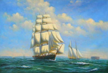 Obraz - Plachetnice na moři IX.