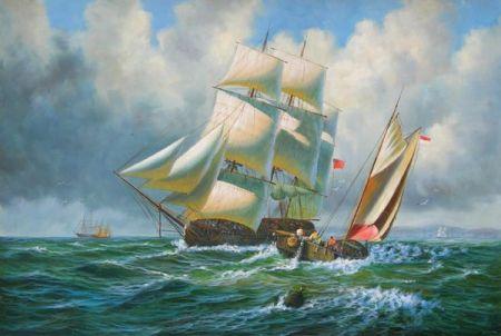 Obraz - Plachetnice na moři X.