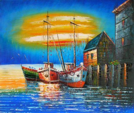 Obraz - Přístav u moře II.
