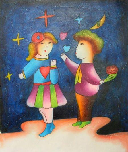 Obraz - První láska