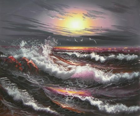 Obraz - Rozbouřené moře III.